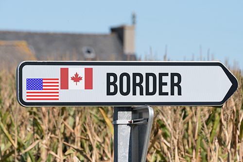 US Canada Border sign - blog