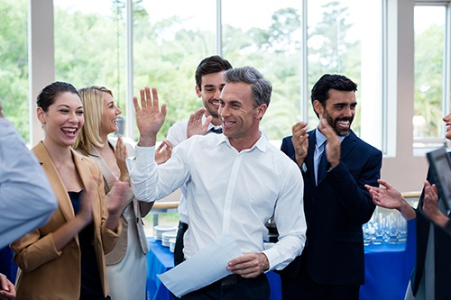 business people high five-blog