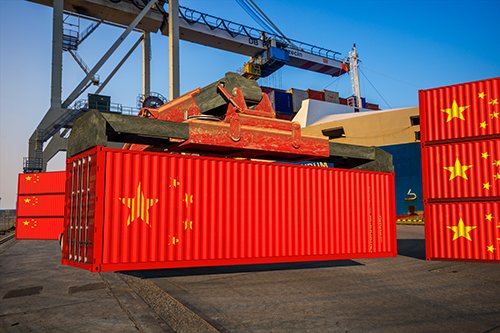 chinese flag shipping containers - blog