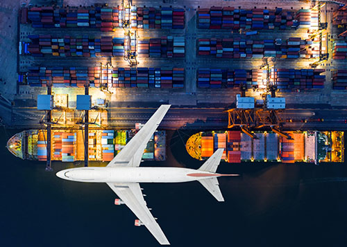 container ship and airplane - blog