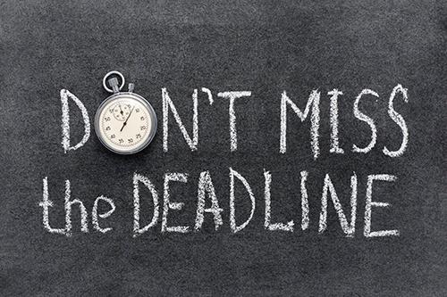 don't miss the deadline-blog