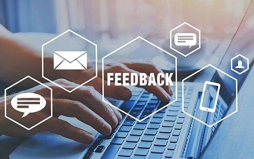 feedback concept - blog
