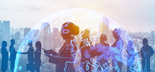 global business concept - blog