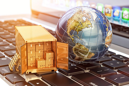 globe and shipping containers - blog