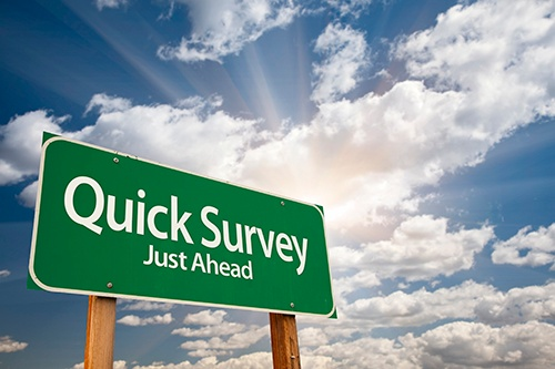 quick survey ahead-blog
