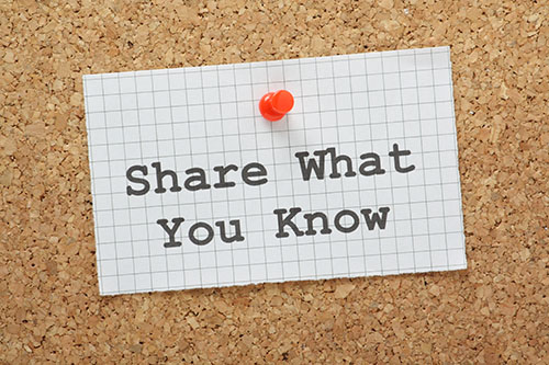 share what you know-blog
