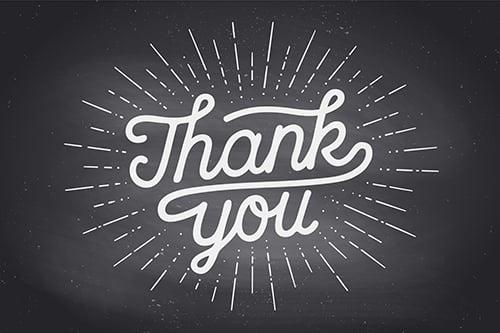 thank you chalkboard blog