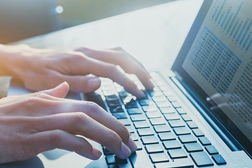 hands typing-blog