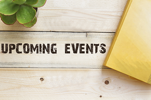 upcoming events wood - blog