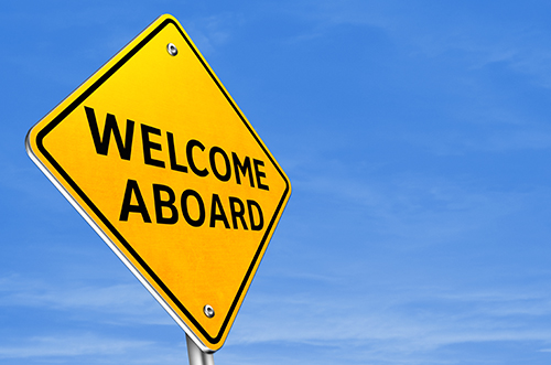 welcome aboard sign - blog