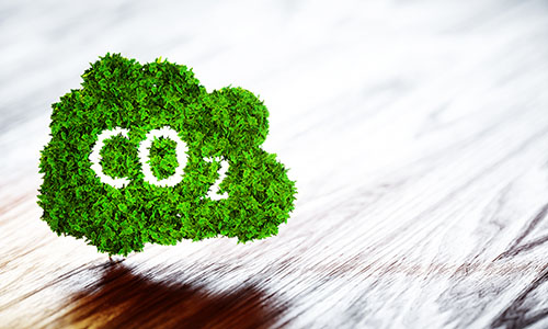 CO2 on wooden bg - blog