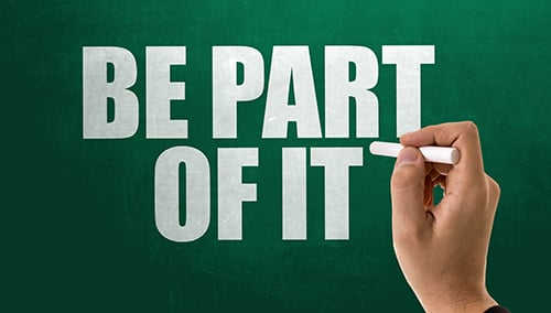 be part of it chalkboard - blog