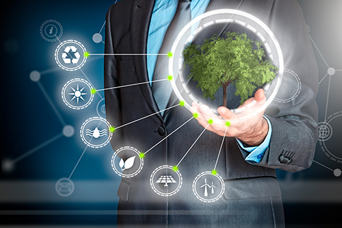 business man sustainability concept - blog