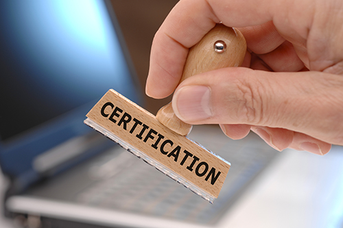 certification stamp - blog