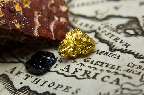 gold on africa map-blog