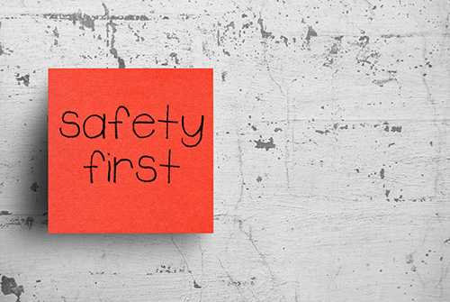 safety first note - blog