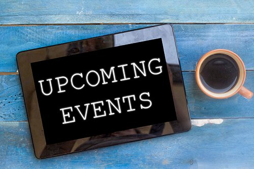 upcoming events tablet - blog