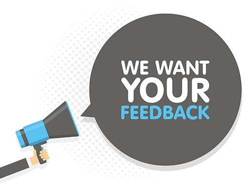 we want your feedback megaphone-blog