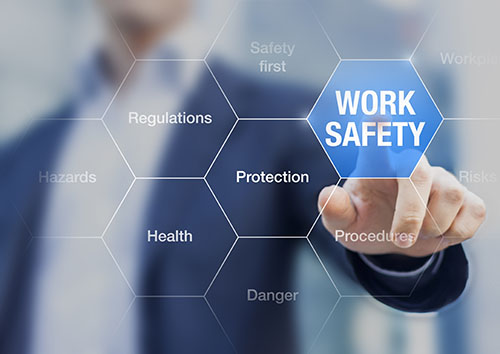 work safety concept - blog